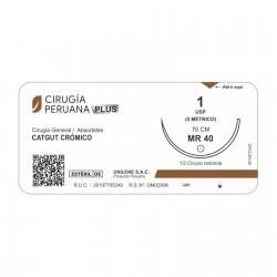 Catgut Crómico Calibre 3/0 Para Uso Dental