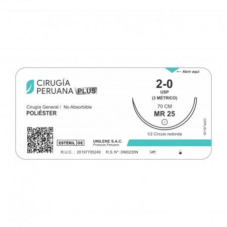 Poliester Calibre 3/0 Forma 1/2 Para Uso Cardiovascular